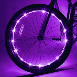 Wheelbrightz Purple Led Bicycle Wheel Light