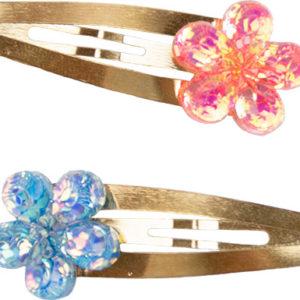 Shimmer Flower Hairclips