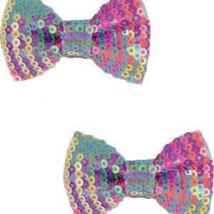 Rainbow Sequins Bows