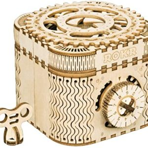 DIY 3D Wooden Puzzle Mechanical Treasure Box