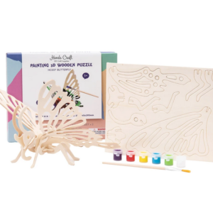 DIY 3D Wooden Puzzle with Paint Kit Butterfly