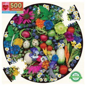 Organic Harvest 500 Pc Round Puzzle