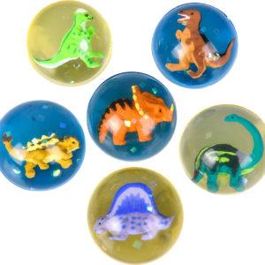 "1.75"" 45Mm Dinosaur Hi-Bounce Ball"