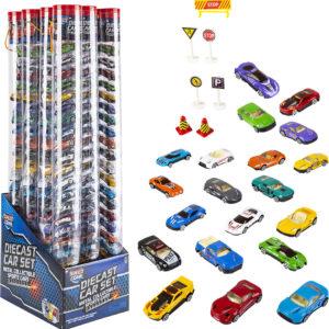 Die Cast Car Tube Set 1:64 Scale