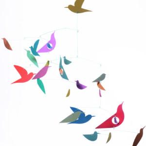 Djeco Fsc Multi-Colored Birds Mobile Room Decoration