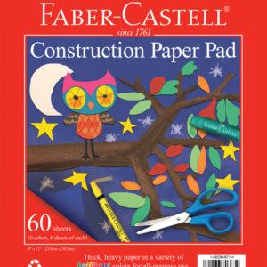 "Construction Paper Pad 9"" x 12"""