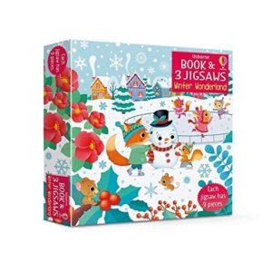 Book & Jigsaw Puzzle Winter Wonderland