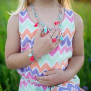 Fantastic Tassel Necklace Bracelet Set