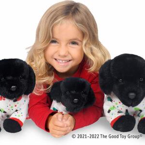 Douglas PJ Pup Black Lab Plush Stuffed Animal - Small