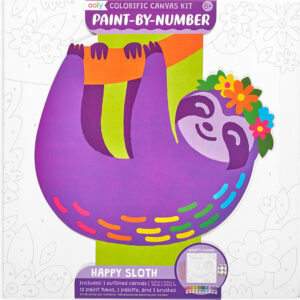 Colorific Canvas Kit Paint by Number - Happy Sloth